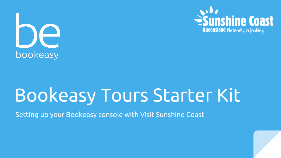 Bookeasy Tours Starter Kit - Visit Sunshine Coast