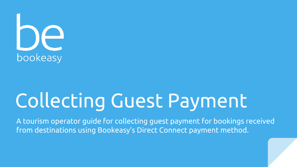 Collecting Guest Payment - Visit Sunshine Coast - Bookeasy