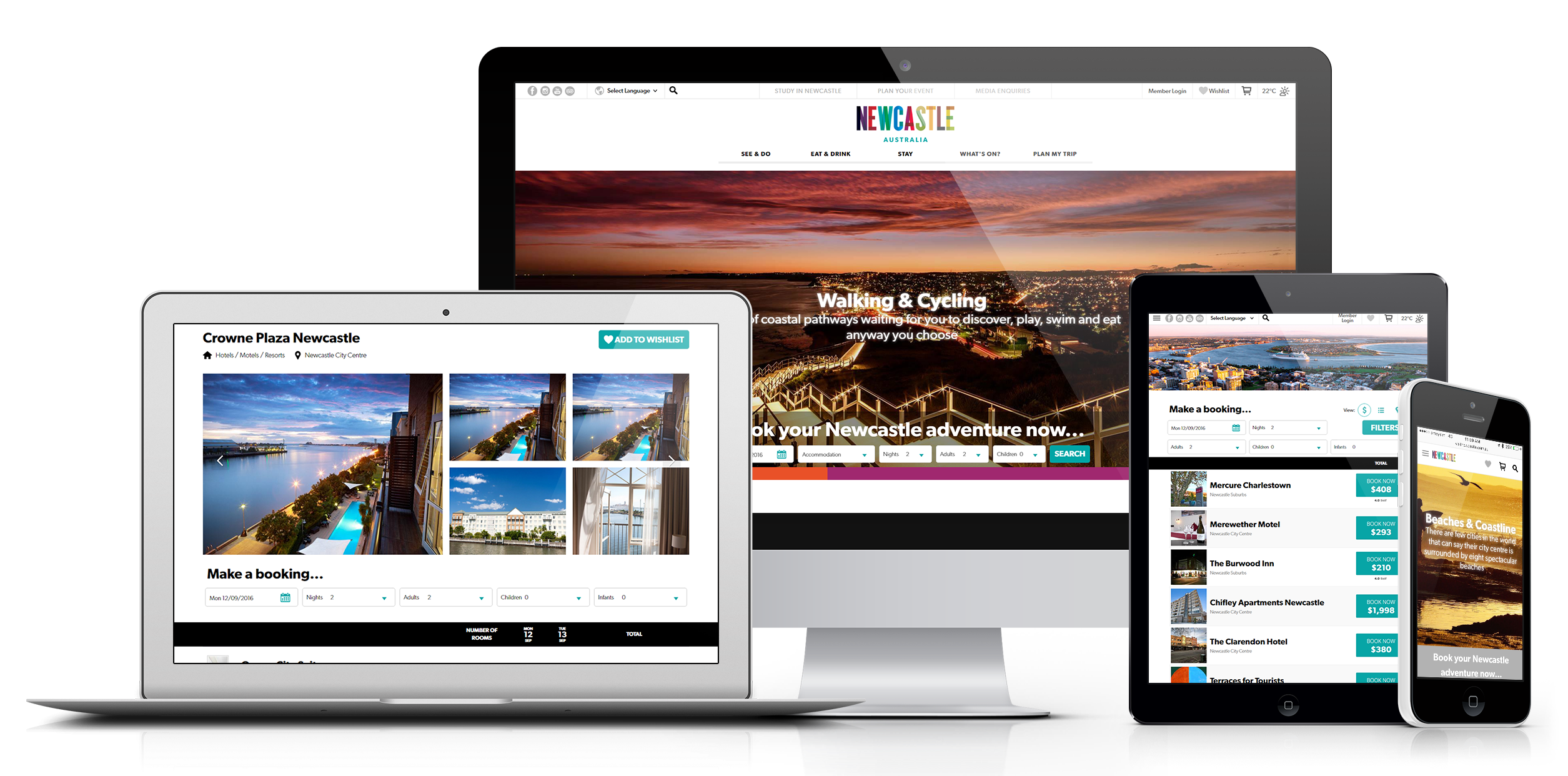 New beDigital Website - visitnewcastle.com.au