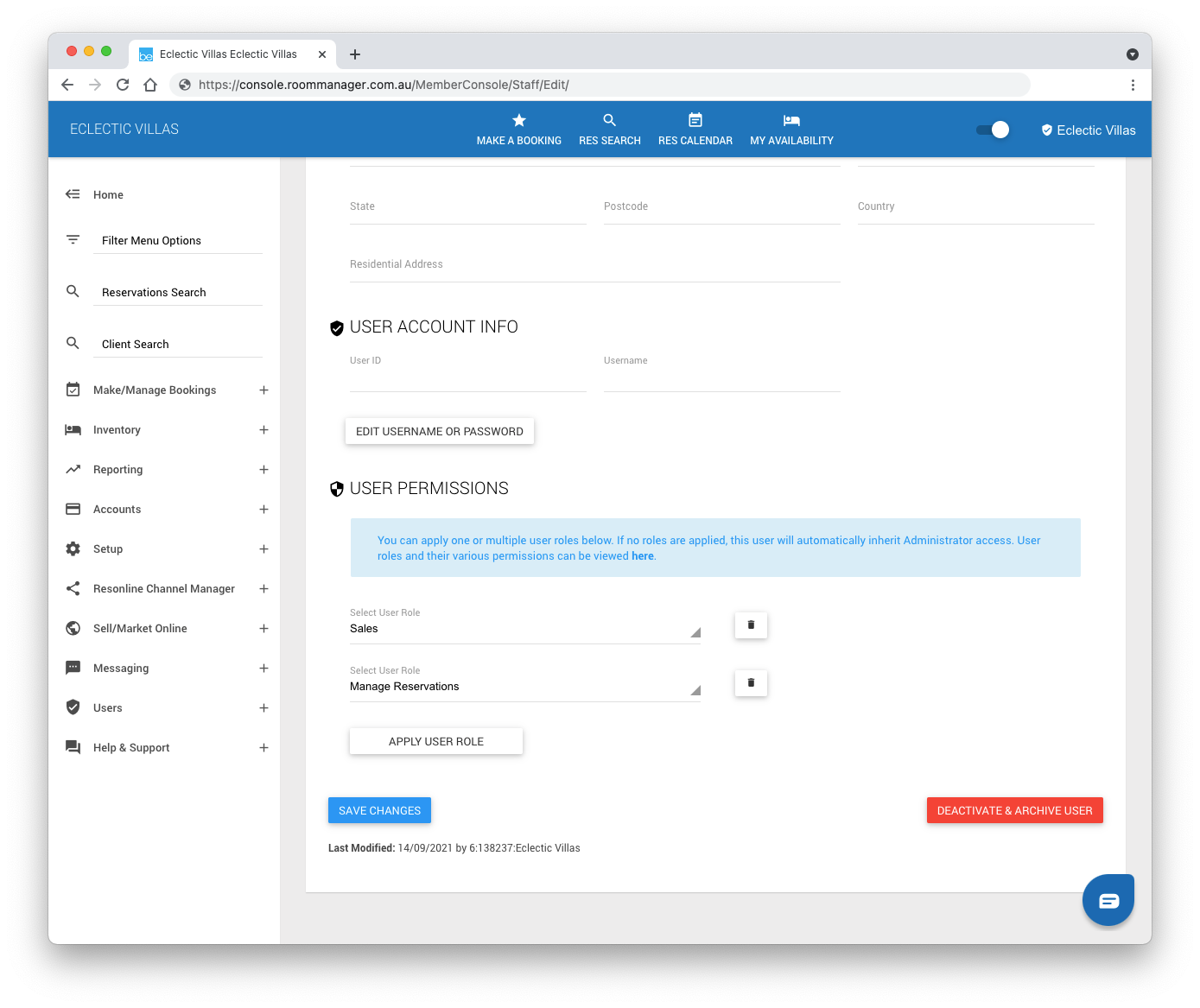 Manage User Permissions